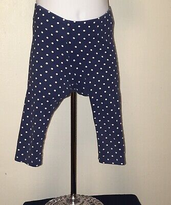 3ab0116418b63 MINI BODEN Sz 4 - 5 yrs White Off Blue Polka Dots Leggings Cropped Stretch