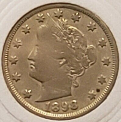 1898 Liberty Head V Nickel Good Condition Better Date