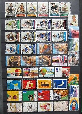 336-19  45 Used Different Australia Commemorative Stamps