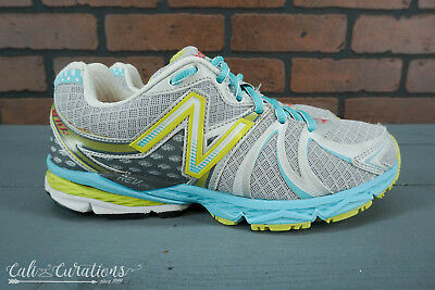 new style d948d 4e883 VGC! NEW BALANCE 870 v2 Womens Size 7.5 Running Shoes Gray/Blue/Yellow