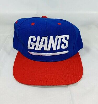 official photos c984f 18775 Vintage New York Giants Blue White Script Snapback Hat New Era