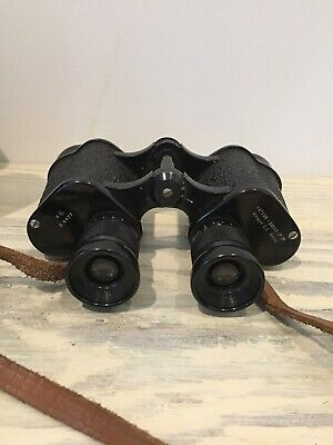 Watson Baker Vintage Antique Binoculars With Leather Case