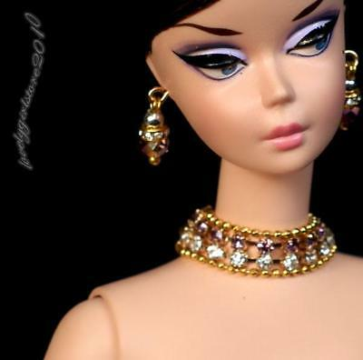 """Handmade Doll jewelry necklace earrings For Barbie Doll and 11.5/"""" dolls D125"""