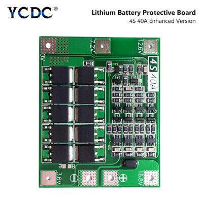 4S 20/40A 14.8V 16.8V 18650 Battery Charger BMS Protection Board For Drill Motor