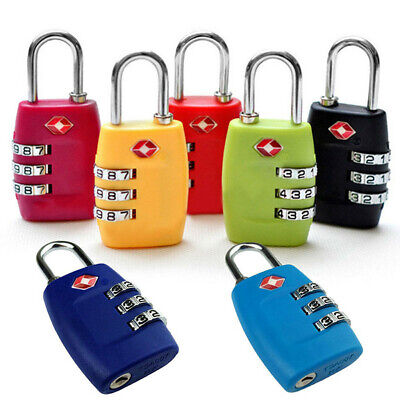TSA Approved Luggage Lock Travel 3 Digit Combination Suitcase Padlock Reset New