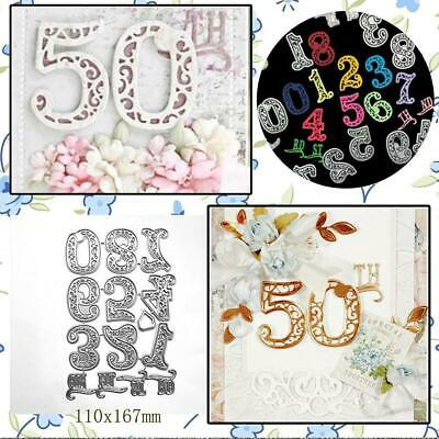 Circle Lace Number Metal Cutting Dies Stencil Scrapbooking Card Embossing Craft