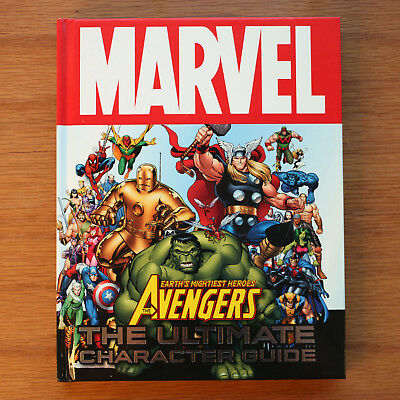 Marvel Avengers Mightiest Heroes Ultimate Character Guide Hardcover *Near Mint*