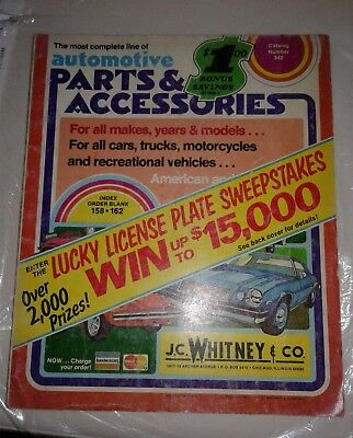 VINTAGE J  C  Whitney Automotive Accessories and Parts mix Lot of 3