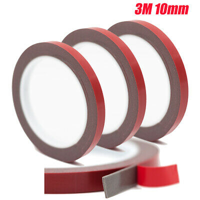 3M Double Sided Acrylic Plus Automotive Attachment Tape Heat Resistant Tape 10mm