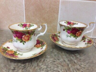 Royal Albert Old Country Roses Set Of Coffee Cup & Saucer + Tea Cup & Saucer 1St