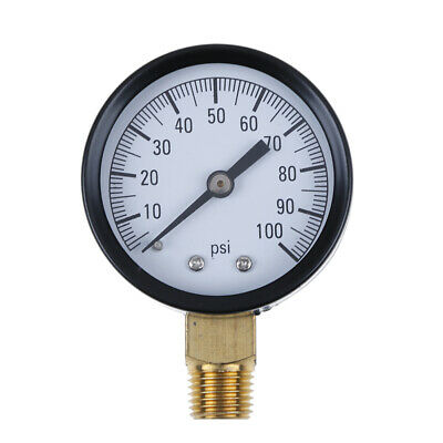 """TS-50-100PSI 1/4"""" low lead pressure gauge for fuel air oil gas water BL"""