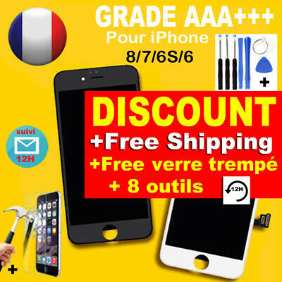 ECRAN LCD VITRE TACTILE CHASSIS COMPLET IPHONE 8/7/6/S Touch Screen Replacement