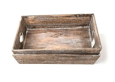 Brown Wood Tray - Wholesale - Pack of 6