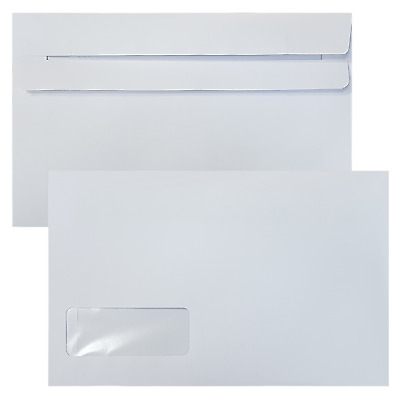 Sage Compatible Wage Envelope 140mm x 220mm Self Seal Window White 90 | Box 1000