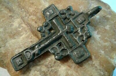 "RARE ANTIQUE 18-19th CENTURY ""OLD BELIEVERS"" ORTHODOX ""SKULL"" ORNATE ""SUN"" CROSS"