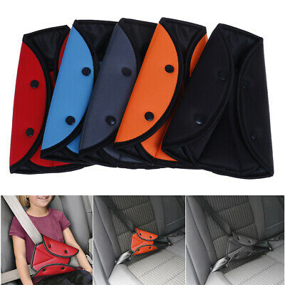 1x Children kids car safety seat belt fixator triangle harness strap adjuster MW