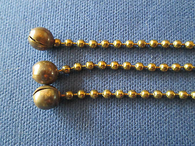 New 3 Beaded Chains Aged for Vintage Art Deco Ceiling Light Fixture Shades