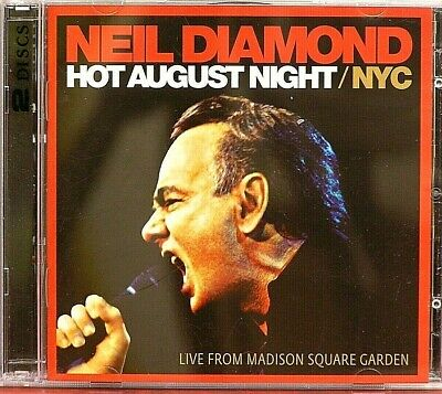 Neil Diamond  Hot August Night / NYC  LIVE  29 Track  2CD Set  2009  Sony  VGC