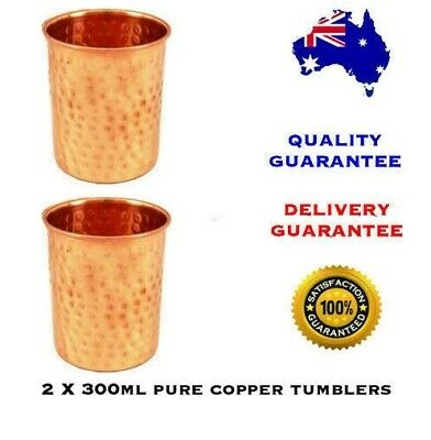 300ml Pure Copper Craft Hammered Tumbler with Ayurvedic Health Benefits