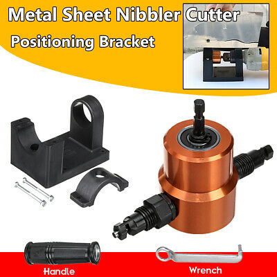 Double Headed Sheet Metal Nibbler Drill Attachment Metal Cutter with Extra Punch