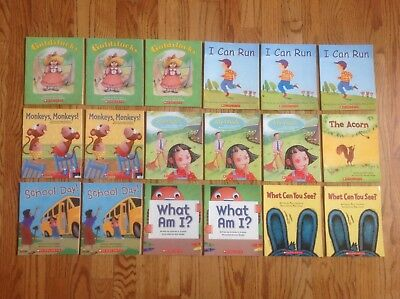 Lot of 18 READING LINE Books by Scholastic EMERGENT Sight Words EASY Teachers