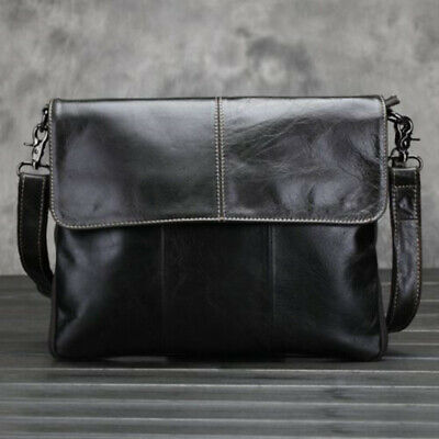 New Mens Retro Oil Wax Leather Messenger Shoulder Bag Briefcase Business Fashion