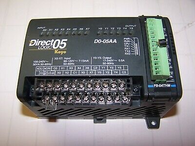 Direct Logic 05 Koyo Plc Module 240V D0-05Aa W/ 4-Channel Thermocouple F0-04Thm
