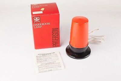 Paterson Darkroom Lamp.  Safelight with Orange Cover.  New, Old Stock Condition.