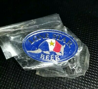 Lone Star Beer Armadillo Texas Flag Color Lapel Pin