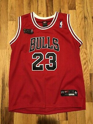 5b675b1513cbc7 Michael Jordan Chicago Bulls Nike Jersey NBA Finals Red 52 XL MJ Vintage  Retro