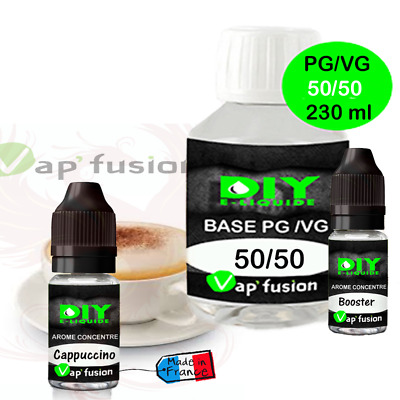 Pack base DIY facile e liquide Cappuccino 230 ml Vap'fusion