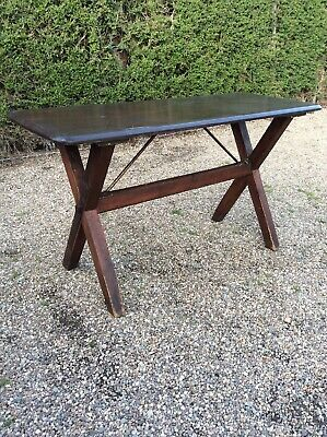 Antique Trestle Table Style Large Farmhouse Table Pine And Mahogany French Style