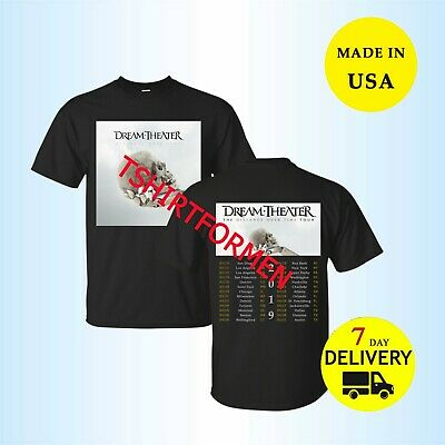 Dream Theater Shirt 'Distance Over Time' Tour 2019 T shirt Black Men All Size