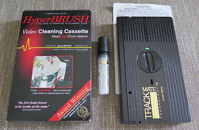 Track Mate Video Hyper Brush Pro Professional VHS VCR cleaning cassette cleaner