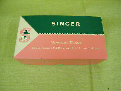 Vintage Singer Special Discs For 600 & 603 Sewing Machine, Original Box