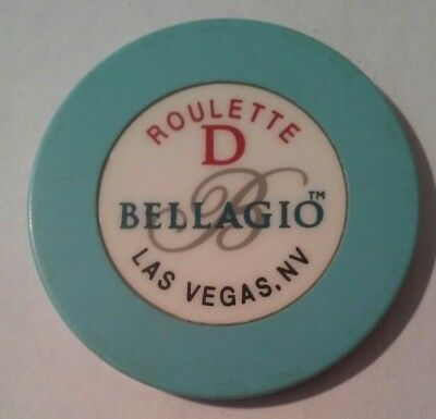 Bellagio Casino Las Vegas, Nv. Table D Blue Roulette Chip Great For Collection!