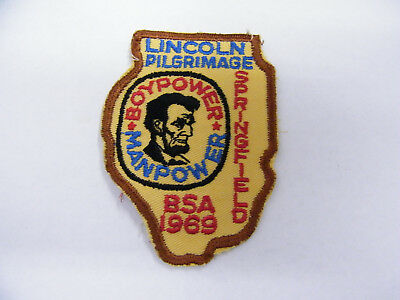 New Vintage Embroidered Lincoln Pilgrimage Springfield ILL  Patch NOS