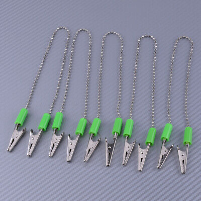 5pcs Dental Bib Clips Flexible Ball Chain Napkin Holder for Dentist Clinic