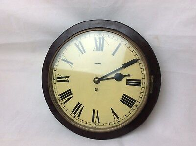 Antique School Station Wall Clock For Repair. 14.5""
