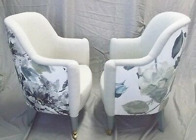 Beautiful Pair of Custom Side/Dressing/Entry/Dining Chairs in Osborne & Little