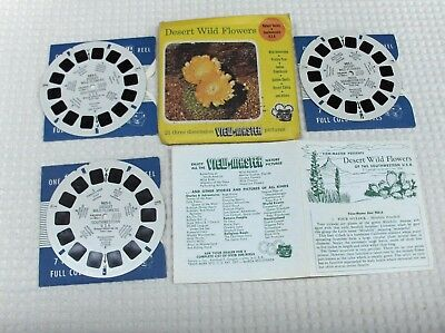 3 disques view master  DESERT WILD FLOWERS   état voir photo