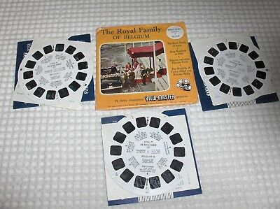 3 disques view master  THE ROYAL FAMILY OF BELGIUM   état voir photos