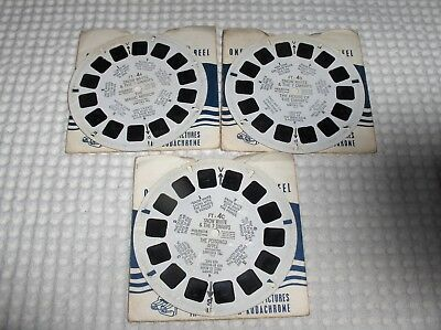 3 disques view master Snow white& the 7 dwarfs FT-4a-4b-4c état voir photos