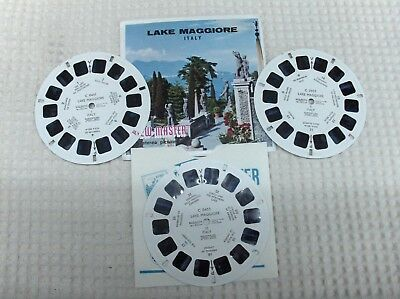 3 disques view master LAKE MAGGIORE ITALY  état voir photo