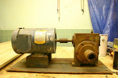 Three Phase Motor and  20:1 Gear Reducer on Frame