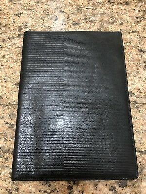 Gianni Versace Black Leather Book/Agenda Cover