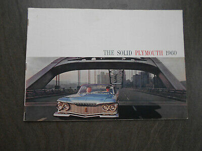 The solid PLYMOUTH 1960, seltener Katalog, englisch
