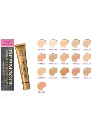 #208 Dermacol High Cover Makeup Foundation 30g Waterproof SPF-30