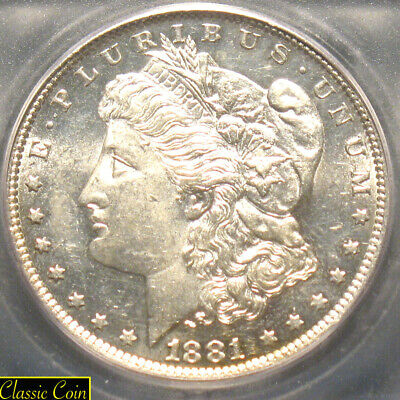 1881-O Morgan Silver Dollar $1 ICG MS64 90% Silver