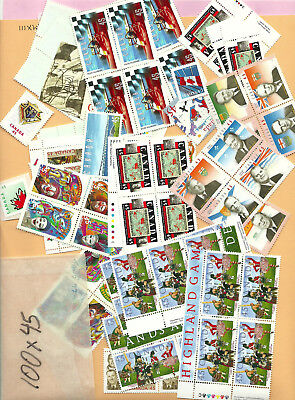 CANADA postage 100x 45 cents MNH Face $45 Your Price $36 Free Shipping